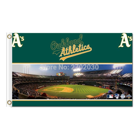 Oakland Athletics Flag Baseball Super Team Custom Logo Banners 3x5 Ft Major League Baseball Flags Banner