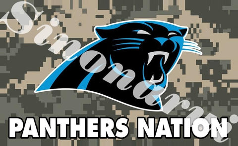 Carolina Panthers Ameican Football Team Camouflage  Durable Banners 100D Polyester 90x150CM Army Camo Flags Banners