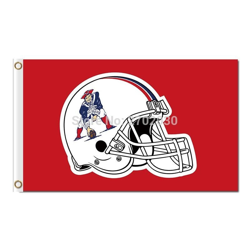 New England Patriots Red Helmet Flag Country Super Bowl Champions 3ftx5ft Banner 100D Polyester Flag Metal Grommets