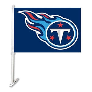 Tennessee Titans Double Sided Car Product Car Polyester Flag Banner 30x45cm With 50cm Plastic Flag Pole