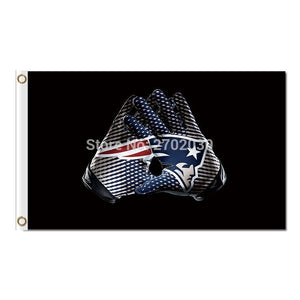 New England Patriots Gloves Design Flag Football Banners 3ft X 5ft Banner Super Bowl Champions Custom Flag