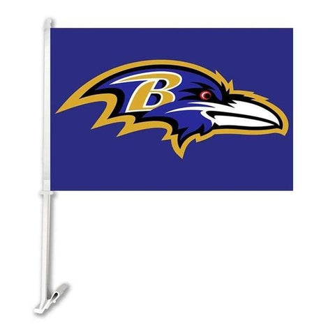 Baltimore Ravens  Double Sided Car Flag Banner Super Bowl Champions 30x45cm Polyester Banner 50cm Plastic Flag Pole Car Products