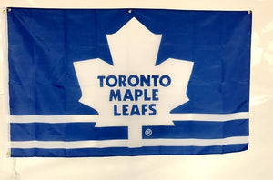 Toronto Maple Leafs Hockey Team Strips Pattern Flag Custom Banners Flags With Sleeve Metal Gromets 90*150CM