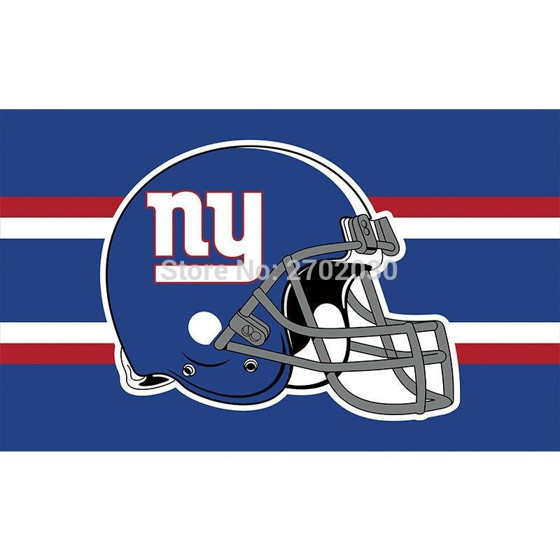 Helmet Design New York Giants Flag Banners Football Team Flags 3x5 Ft Super Bowl World Champions Banner Decoration Country