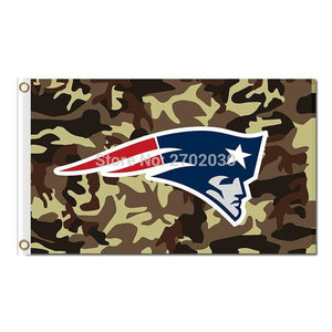 Green Camouflage Design New England Patriots Flag Football Banners 3ft X 5ft Banner Super Bowl Champions Flag