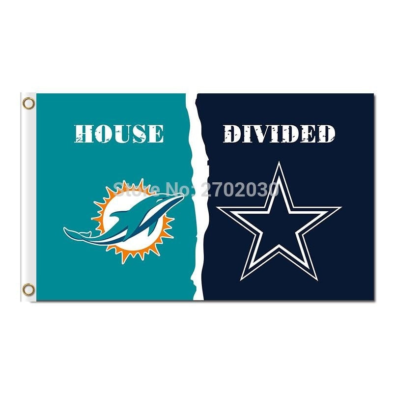Miami Dolphins Flag Vs Dallas Cowboys Team Champions Fan Banners World Series Flying 3ft X 5ft Miami Dolphins Banner