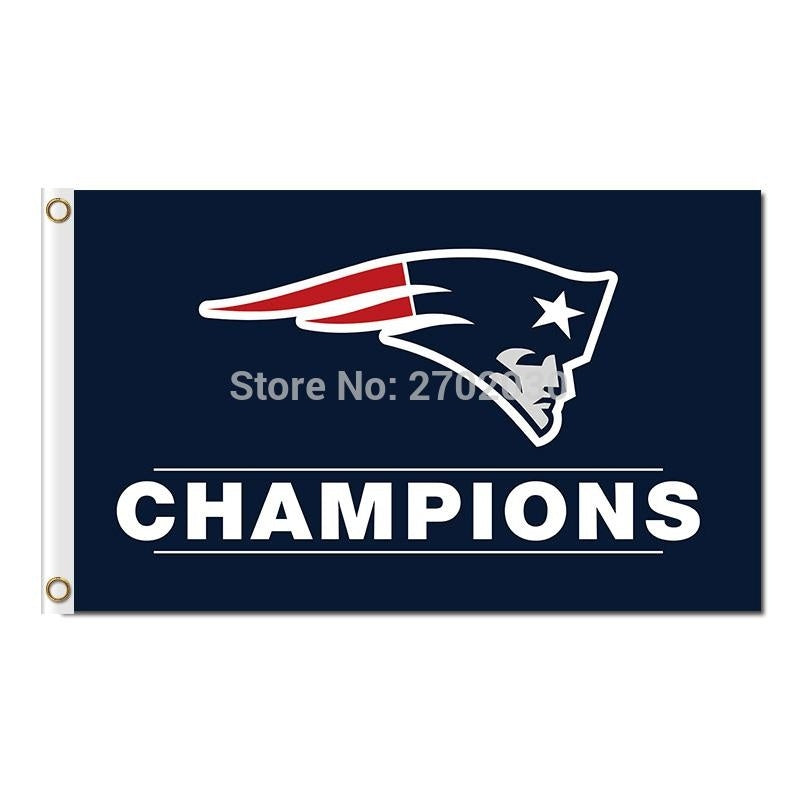 Champions New England Patriots Flag Banners 90 x 150 cm Banner Super Bowl World Champions 100D Polyester Flag