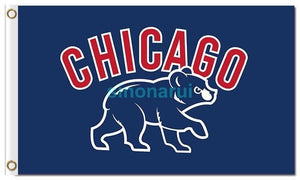 Chicago Cubs Flag 3ft X 5ft Polyester Chicago Cubs Circle Logo Flag 2016 World Series Champions Indoor Outdoor Banner
