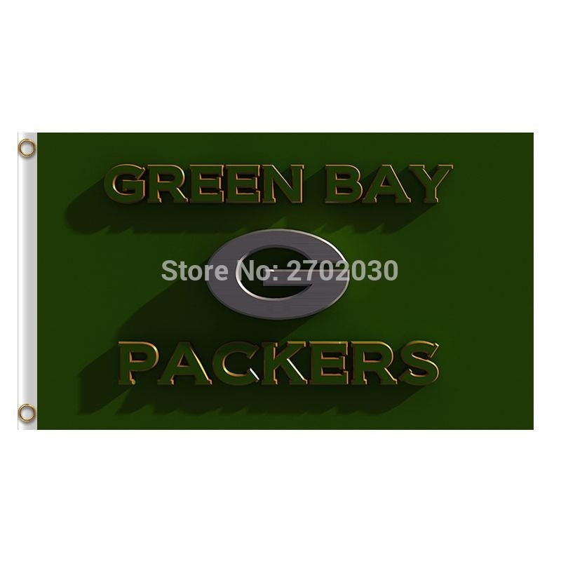 Green Bay Packers Flag Football Team Flags 3x5 Super Bowl Champions Banner Fans World Series Banners Custom