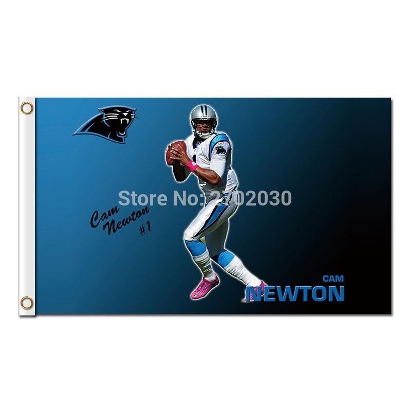 Cam Newton Flag Carolina Panthers Football Sport Team 3 X 5ft Banners Super Bowl Champions Champions Banner Polyester Banner