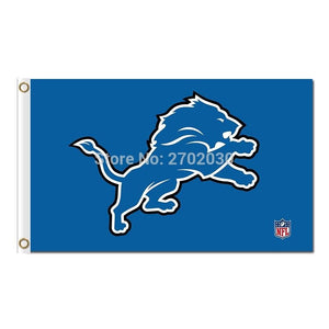 Detroit Lions Flag Team Super Bowl Champions Banners Lion Flag Flying 3ft X 5ft Banner 100D Polyester World Series