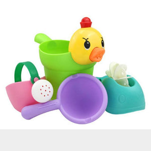 Kids Shower Bath Toys Cute Duck Waterwheel Elephant Toys Baby Faucet Bathing Water Spray, toys- Babies Deals