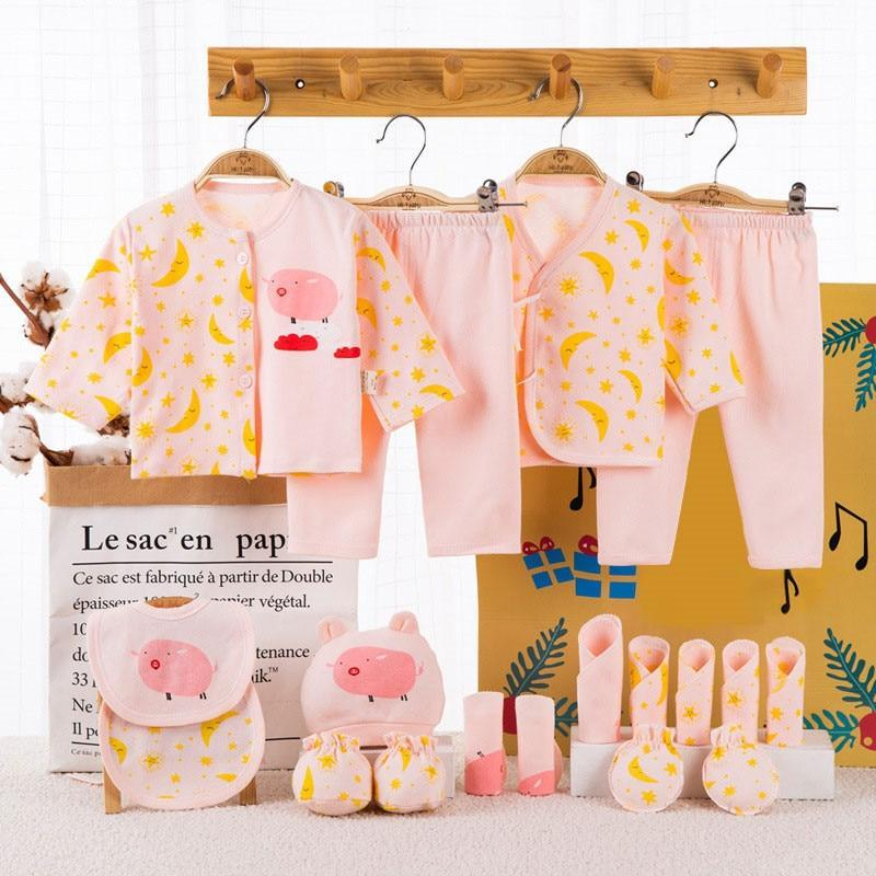 Sale - 15%  18 piece 100% Cotton Newborn Baby Girl Clothes Set Infant Baby Girl Boy, Baby Clothes- Babies Deals