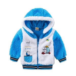 Sale - 15%  Children Long Sleeve Boys and Girls Jacket Hoodie Coral Fleece Warm Coat, Outerwear & Coats- Babies Deals