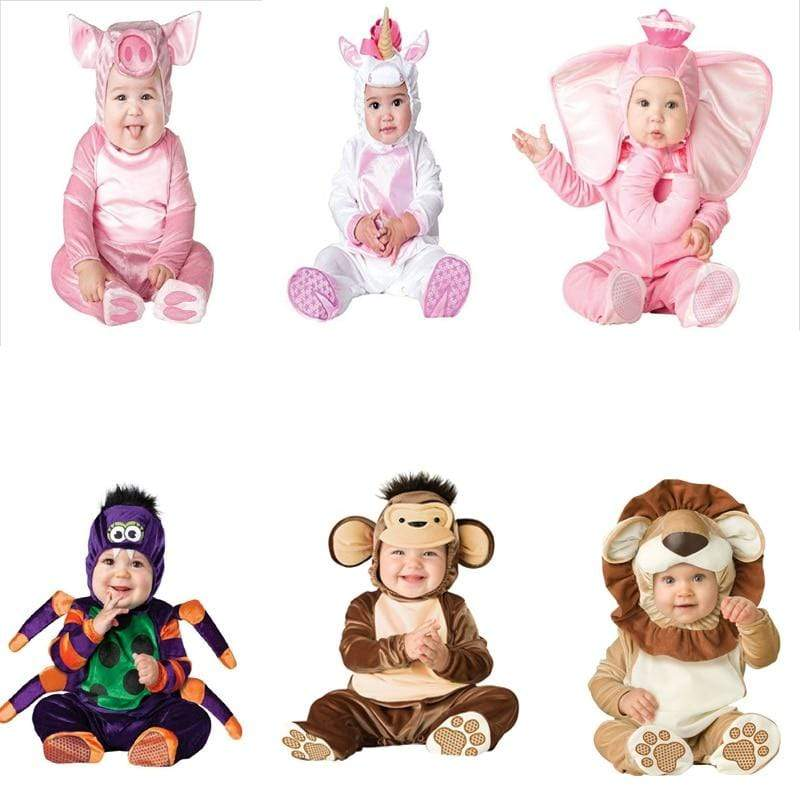 Sale - 15%  Halloween Cartoon Animal Cosplay Costume Winter Baby Boy Girl Clothing Christmas Gift, Occasion Wear- Babies Deals