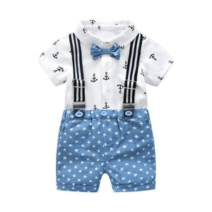 Sale - 15%  Summer Baby Boys Gentleman Clothing Baby Sets Outfits Suits, Occasion Wear- Babies Deals
