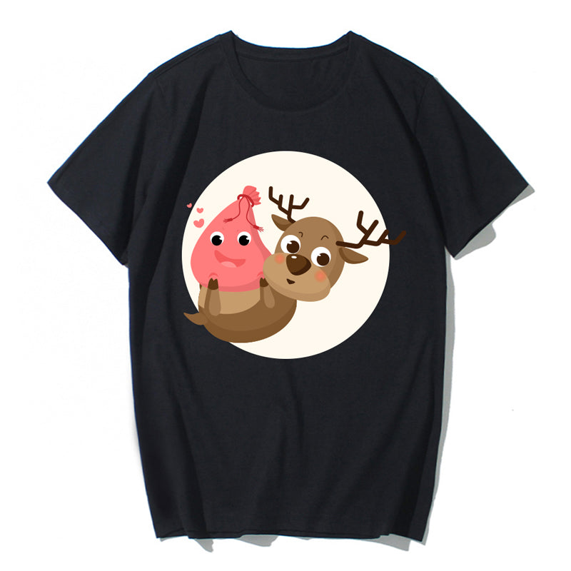 Happy New Year Happy Christmas Short Sleeve 100% Cotton Ultra Soft T-shirt