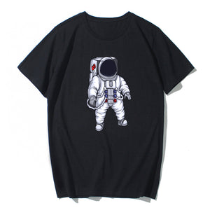 Astronaut Style Short Sleeve 100% Cotton Ultra Soft T-shirt