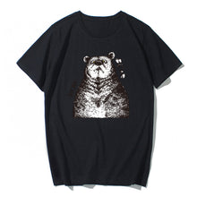 Load image into Gallery viewer, Short Sleeve Bear Cotton T-shirt