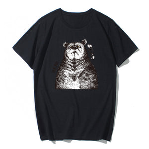 Short Sleeve Bear Cotton T-shirt