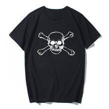 Load image into Gallery viewer, Short Sleeve Skull Cotton T-shirt