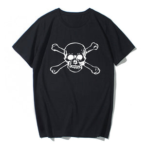 Short Sleeve Skull Cotton T-shirt