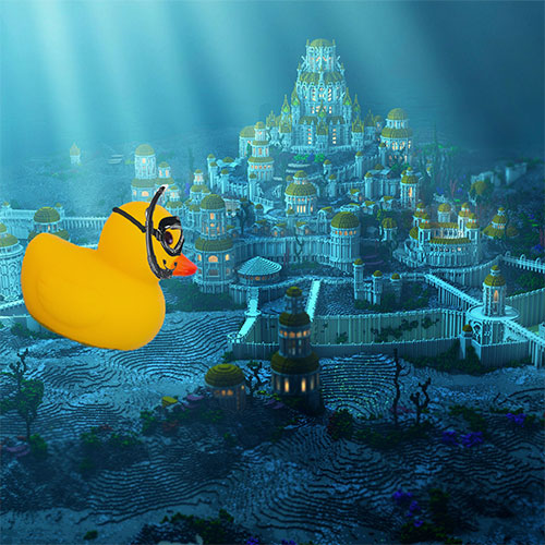 The Most Interesting Duck discovering Atlantis