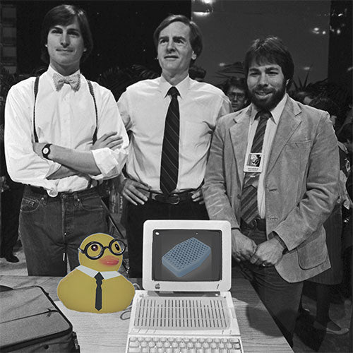 The Most Interesting Duck with the original Macintosh team