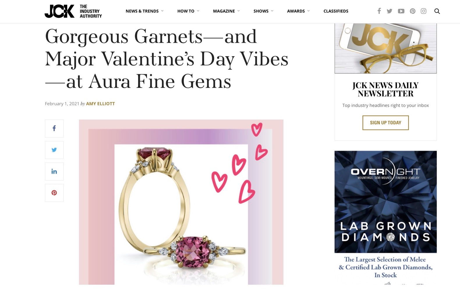 JCK - AURA FINE GEMS Press Article
