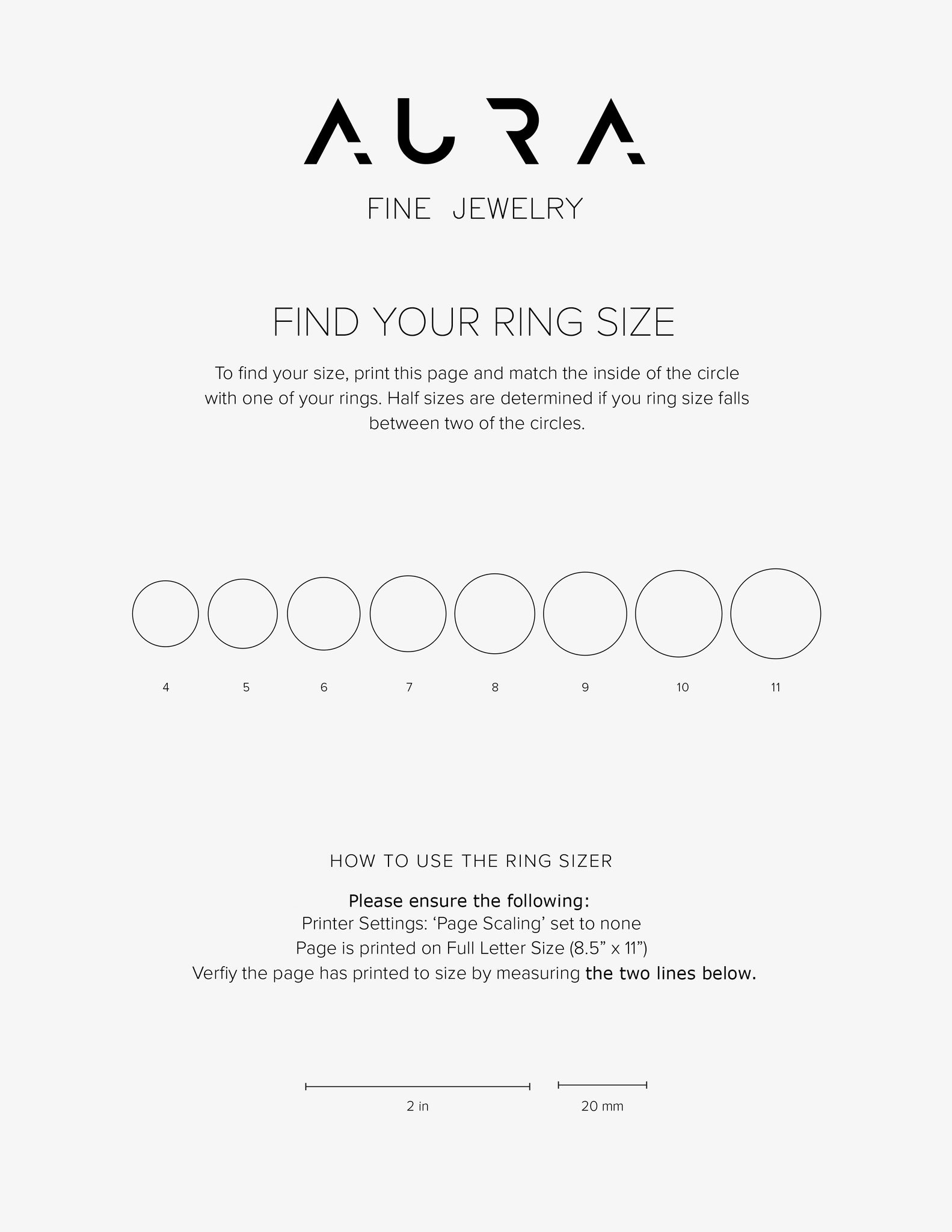 Ring Size Guide