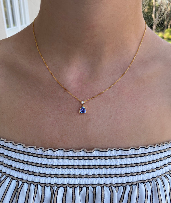 HARPER - One-of-a-Kind Tanzanite & Diamond Necklace