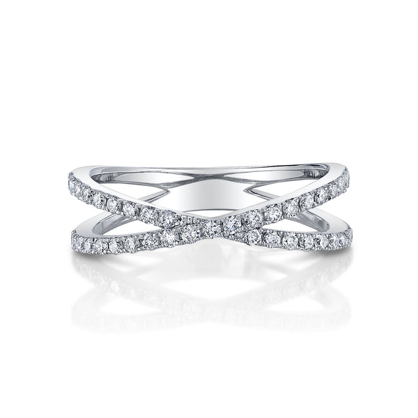 Criss-cross diamond band