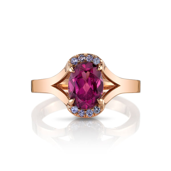 AVA - One-of-a-Kind Rhodolite Garnet & Tanzanite Ring