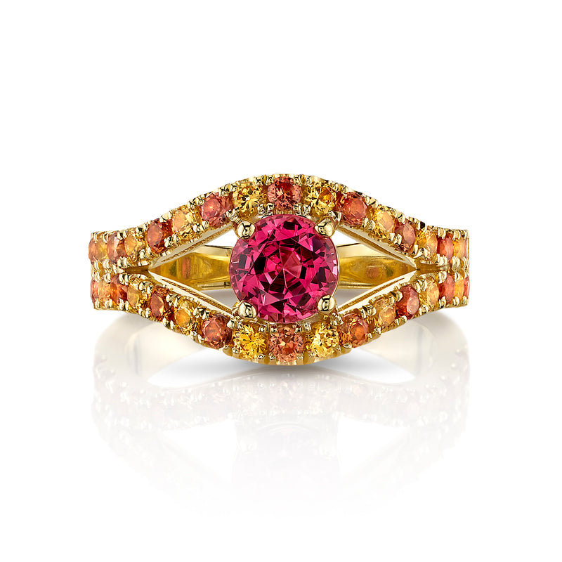 VALENTINA - One-of-a-Kind Pink Spinel & Sapphire Ring