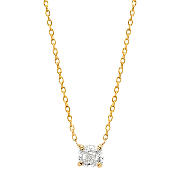 Cushion Diamond Necklace