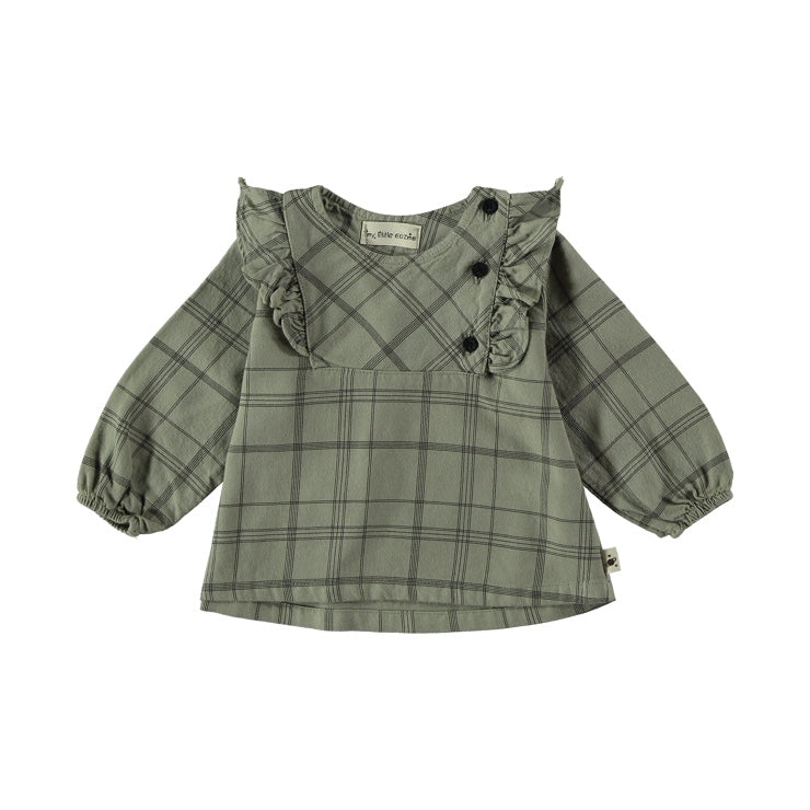 Baby girl plaid blouse