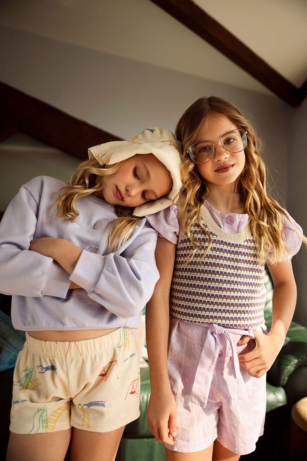 mauve girls overalls belted