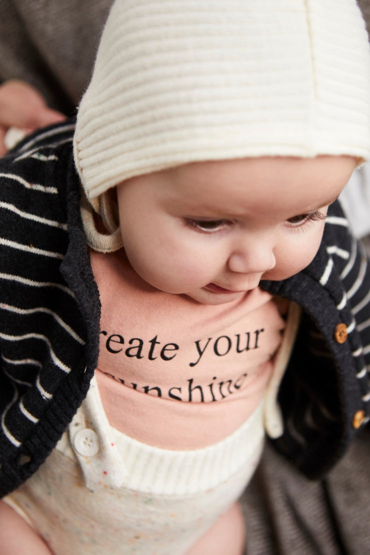 positive message T-shirt for babies