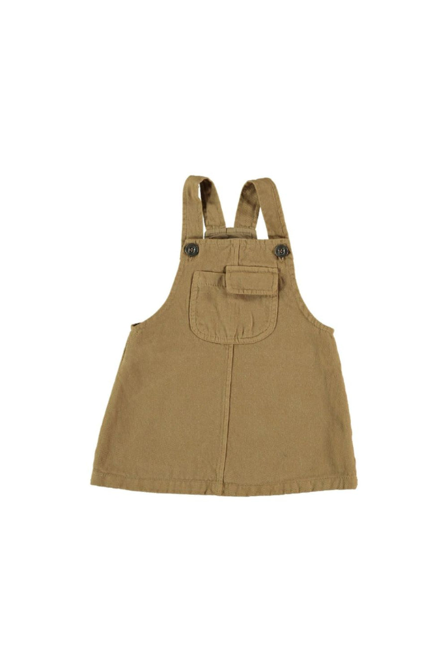 TWILL PINAFORE BABY DRESS