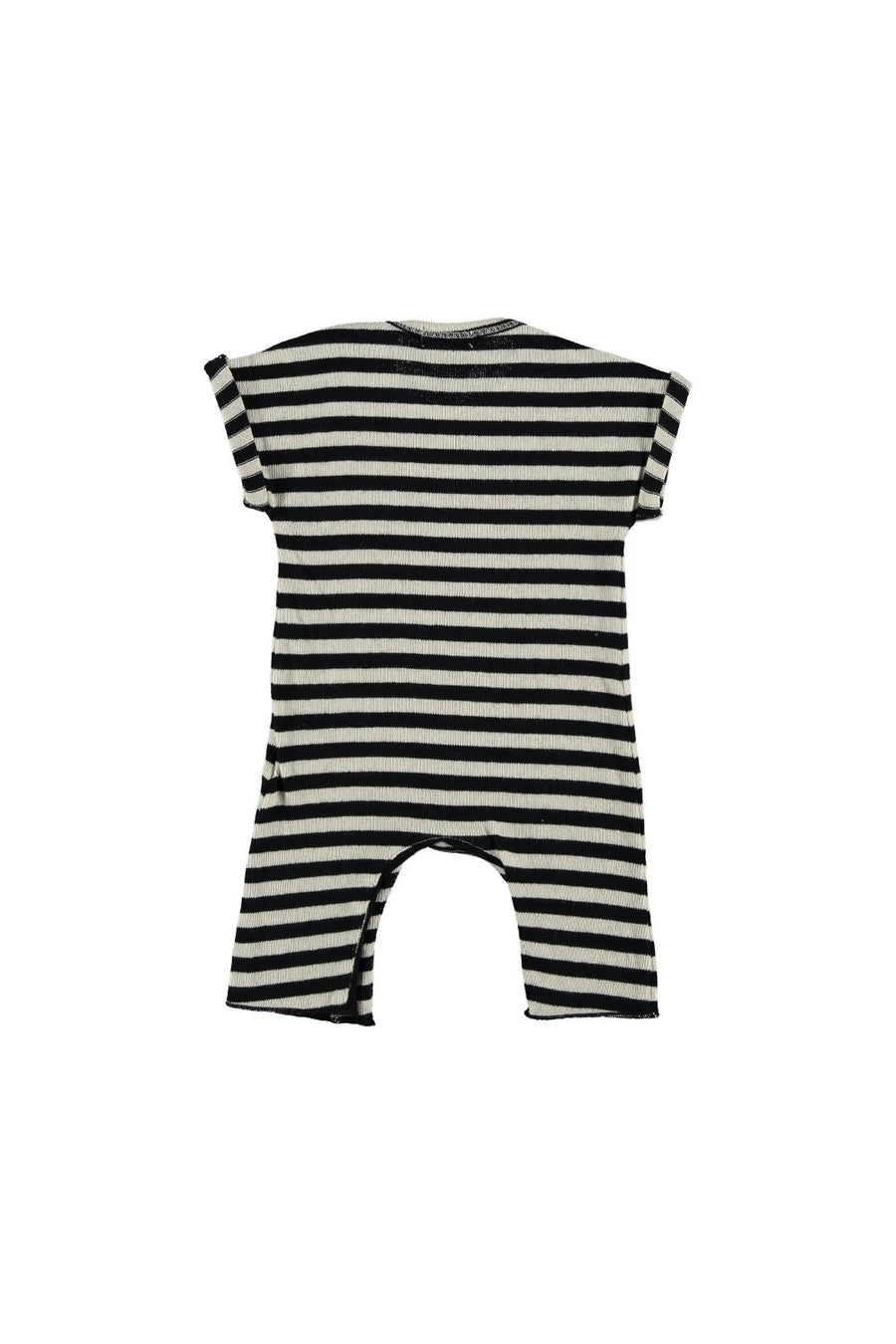 STRIPED KNIT BABY JUMPSUIT