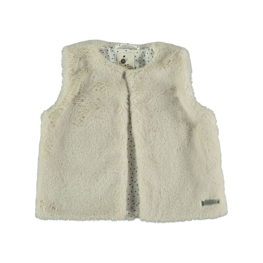 FAUX FUR VEST KIDS TEDDY