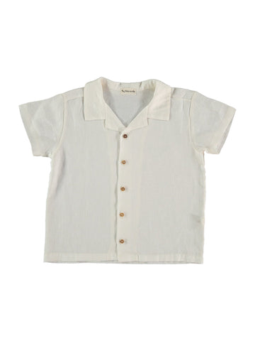 boys white linen shirt