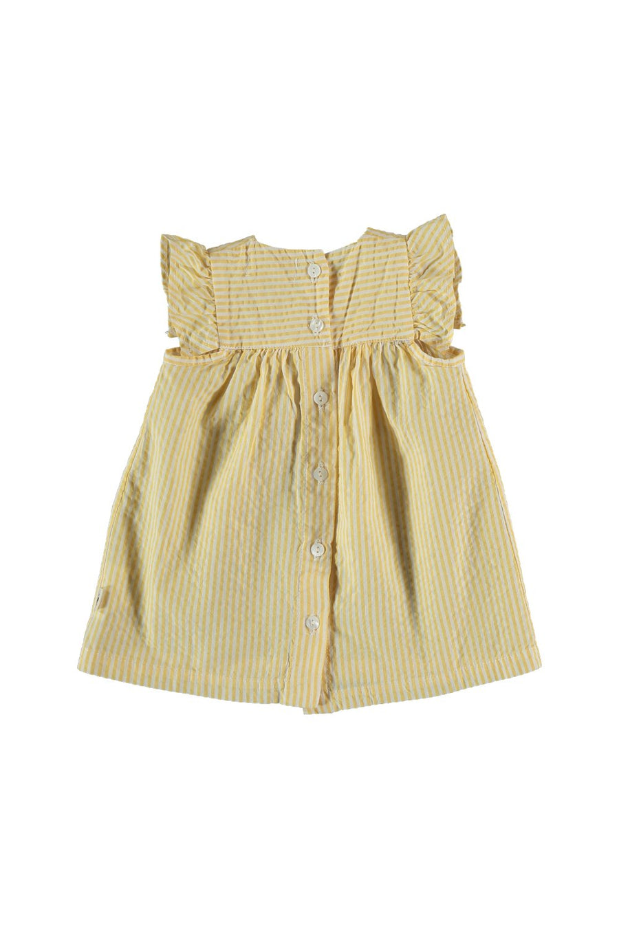 STRIPED SEERSUCKER BABY DRESS