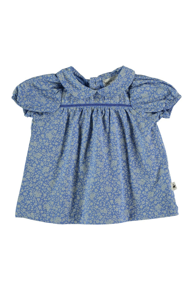 baby girl blue floral dress