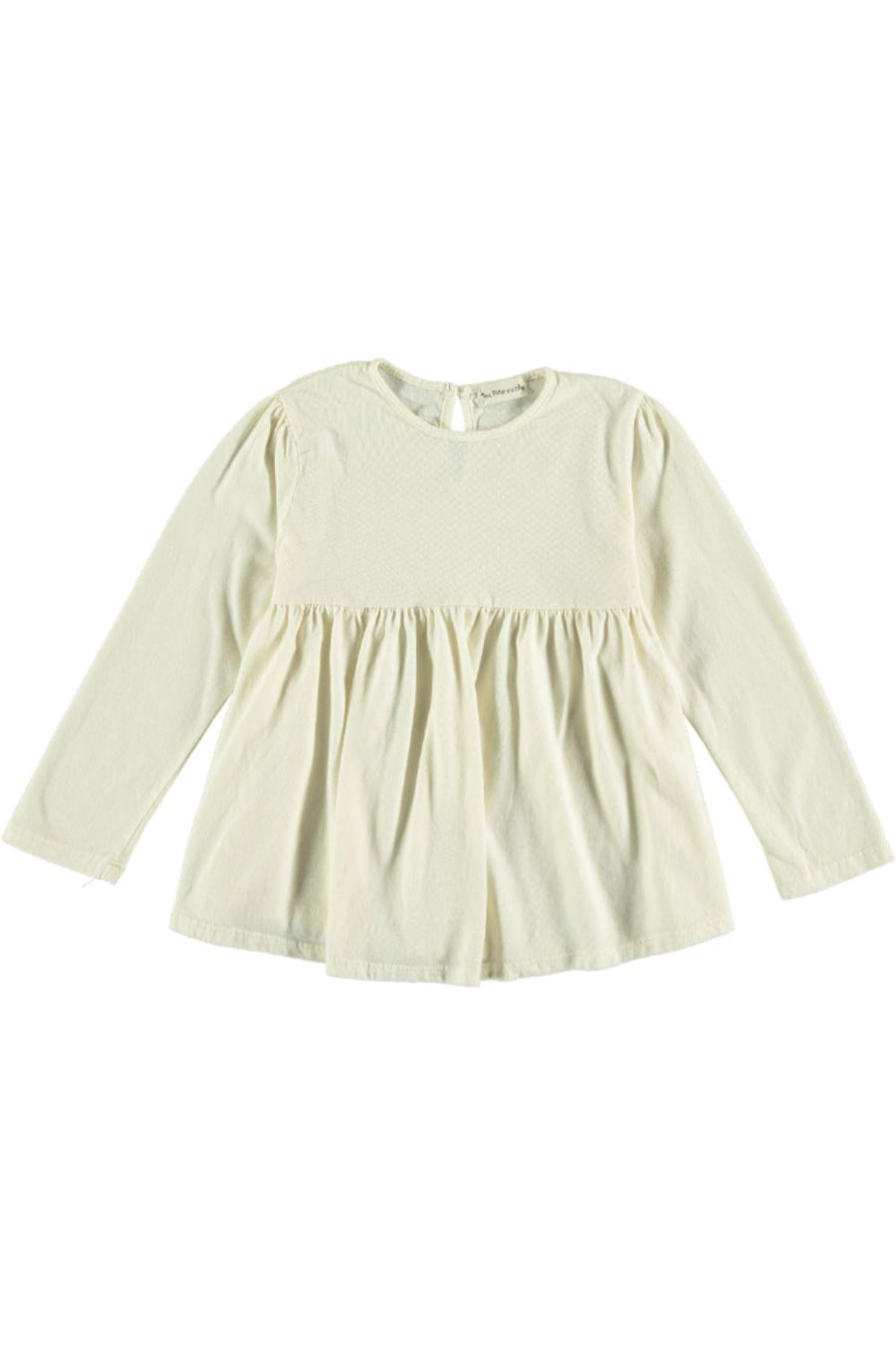 ORGANIC GIRL BLOUSE BASIC RUFFLE WAIST