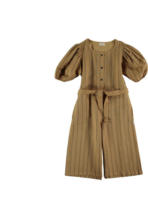 girls brown jumpsuit
