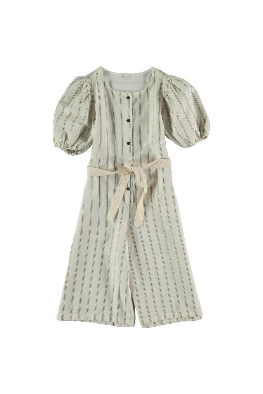 LINEN COTTON STRIPED JUMPSUIT