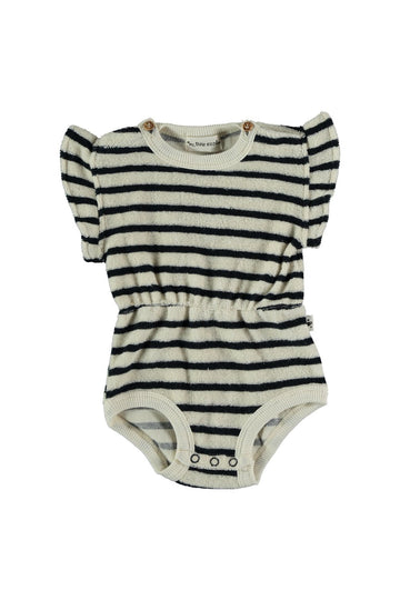 ORGANIC TOWELING FLUTTER BABY ROMPER