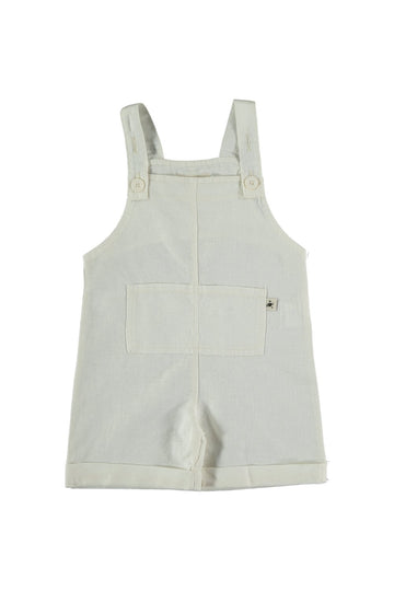 LINEN COTTON BABY SHORTALLS