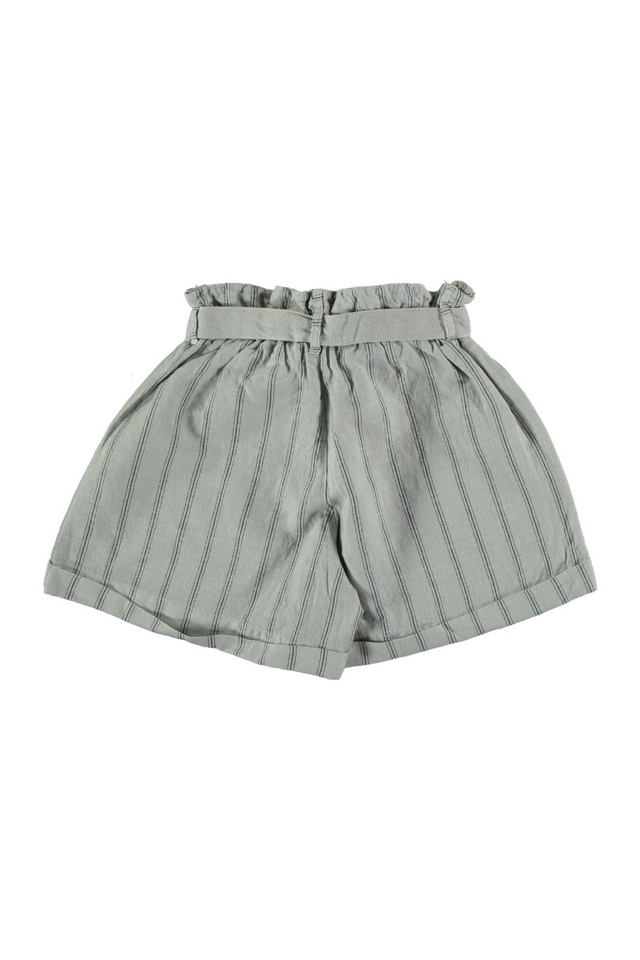 LINEN COTTON BELTED BERMUDA SHORTS
